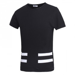 Low price hot new summer men's casual round neck short-sleeved dress Japanese t-shirt tide