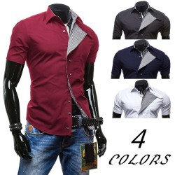 Low price hot new spring and summer fashion style short-sleeved shirt Slim