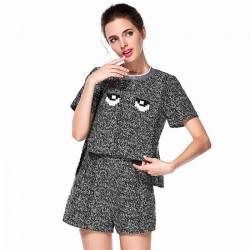 Amoi fashion all match long and short in the front eye solid color suit shorts Xiaoyi
