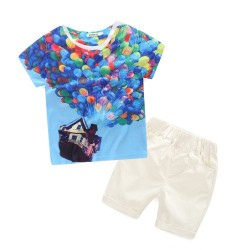 Fast delivery low price children's clothing boys summer short sleeve T-shirt popular discount packages