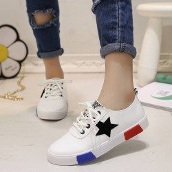 All match ladies shoes autumn new European style US NMD Fashionable Star flag round flat shoes to help low flat