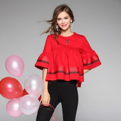 Autumn popular new models in Europe and the US market, international brands of high-end women's shirt T-shirt fast delivery