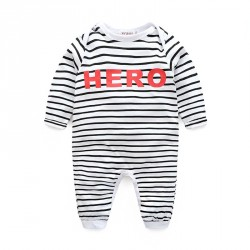 Boy striped long-sleeved leotard leotard jumpsuit tracksuit fast delivery low price children's clothing Spring and Autumn paragraph