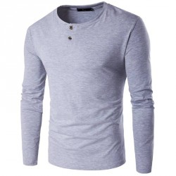 Autumn low selling prices of new models fashion casual personality solid color long-sleeved t-shirt men