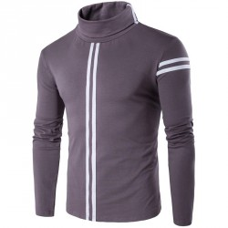 Autumn selling low price new style men's fashion casual striped long-sleeved t-shirt personality