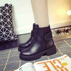 Autumn new models in Europe and the United States market, Ms. Martin boots thick with non-slip boots and bare boots ankle boots Ms. single student discount