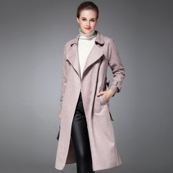 After the fall or winter style split style waistband long style coat