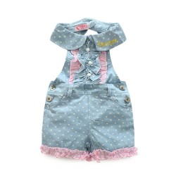 Little girl Denim lace vest pants Bib pants fast shipping new hot sales