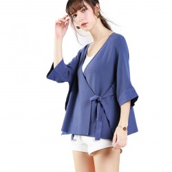 Bat Sleeves Series Cardigan Sweater Jacket For Women