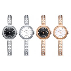 Leather Belt Alloy Quartz Womens Fashion Dress Round Watch