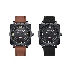Mens Complete Calendar Watch Waterproof Watch