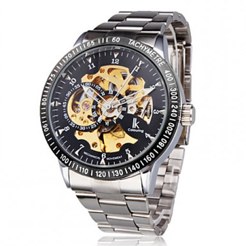 Men & #039;S Watch Mechanical Automatic Self-Winding Hollow Engraving