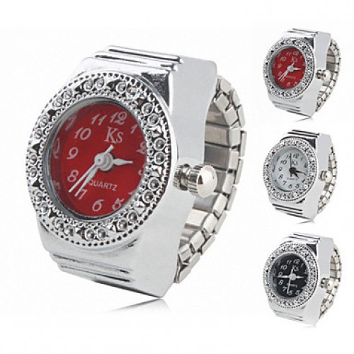 Women & #039;S Casual Alloy Analog Ring Watch (Assorted Colors)