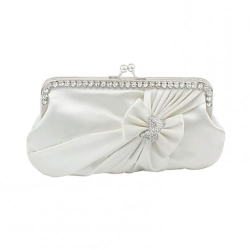 Gorgeous Silk With Flower/Ruffle Wedding/Special Occasion Evening Bag/Clutches(More Colors)