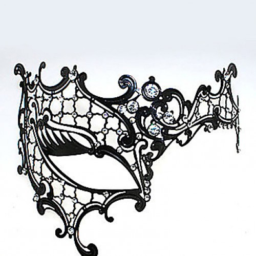 Cyclops Style Metal Hollow Deluxe Carnival Masquerade Mask With Rhinestone
