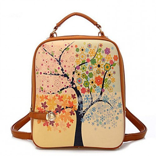 Women & #039;S New Style Retro Printing Backpack