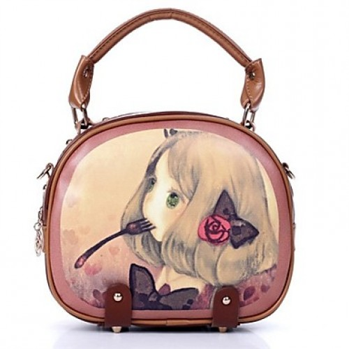 Women & #039;S New Style Girl Printting Tote/Crossbody Bag