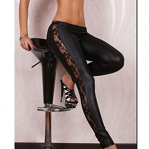 Women & #039;S Lace Black Sexy Bodycon Slimming Stretchy Leggings