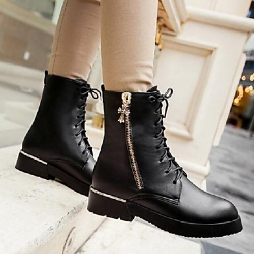 Women & #039;S High Quality Fashion Joker Pure Color Anti-Skid Warm Genuine Leather Snow Boots