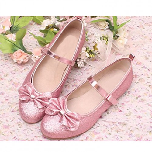Girls & #039; Shoes Dress/Casual Round Toe Satin Flats Blue/Pink/Silver/Gold
