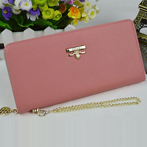 Women & #039;S PU Wallet- Pink/Blue/Green/Red
