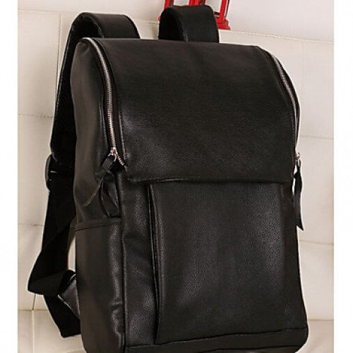 Unisex & #039;S PU Backpack- Black