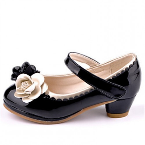 Girls & #039; Shoes Casual Round Toe Heels Black/Pink