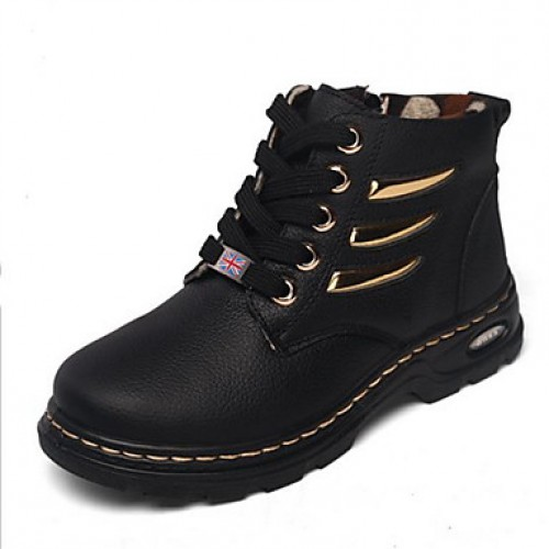 Boys & #039; Shoes Casual Leather Boots Black/Blue/Brown