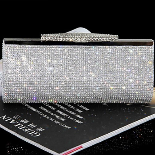 Women Other Leather Type Minaudiere Clutch/Evening Bag- Gold/Silver/Black