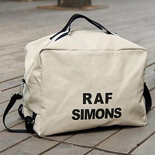 Unisex Canvas Casual/Outdoor Travel Bag- White/Black
