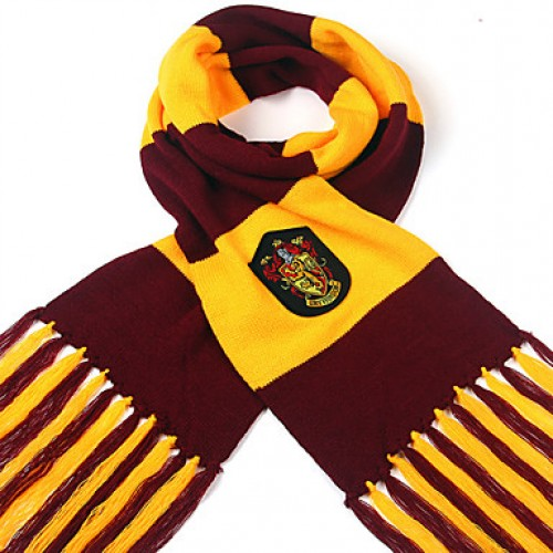 Harry Potter Striped Double Thick Scarf Gryffindor/Slytherin/Ravenclaw/HufflePUff