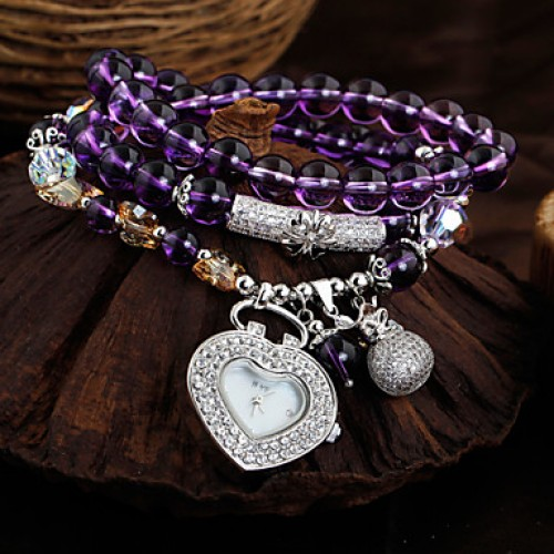 Natural Crystal Bracelet Ladies Fashion Personality All-Match Chalcedony Quartz Watch Watches