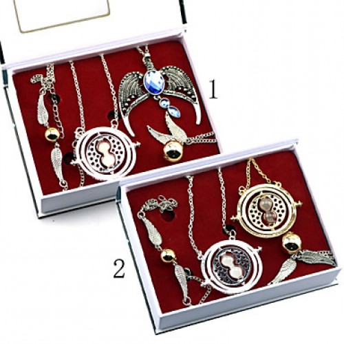 Harry Potter Male Cosplay Necklace More Accessories(4Pcs Set)