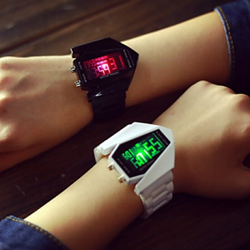 2017 Fashion Led Screen Watch Luminous Light-Emitting Strap Students Lovers Watches (Assorted Color)