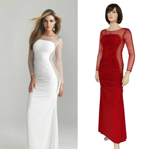 2017 Summer New Sexy Popular Drilling Slim Toast Clothing Long Section Of Ice Silk Evening Dress Bridesmaid Dress Trailing
