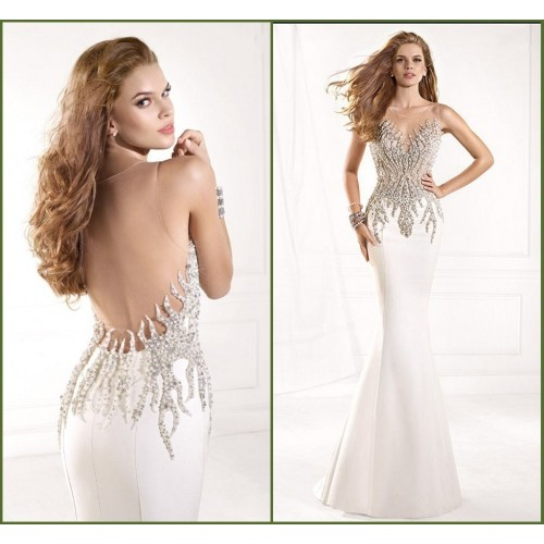 Hand-beaded vest 2015 summer new bride toast clothing long paragraph dress sexy Slim fishtail dress chaired