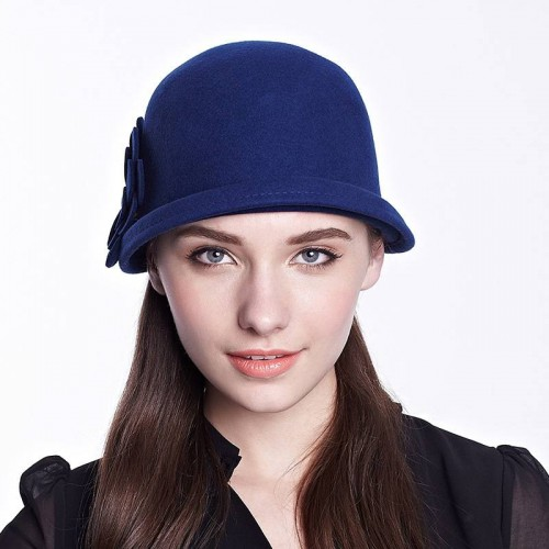 Elegant winter hat fashion short eaves Material wool hat Ms. popular sub-basin-shaped hat dome hat promotional discounts