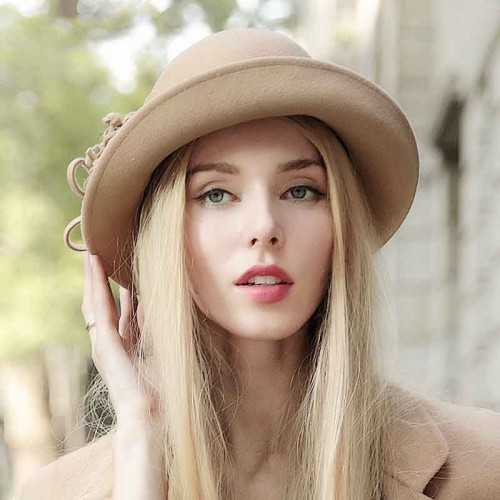 Ms. popular autumn and winter hat basin-shaped hat in Europe and the US fashion market material wool small hat fashion hat lady