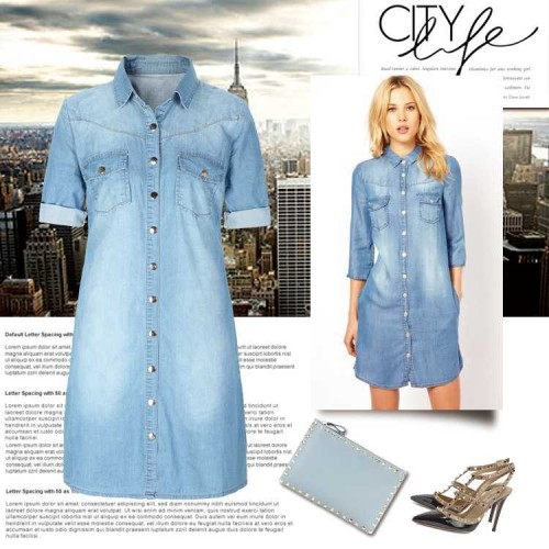 Europe and the United States market, selling products loose big yards long style blouses denim shirt