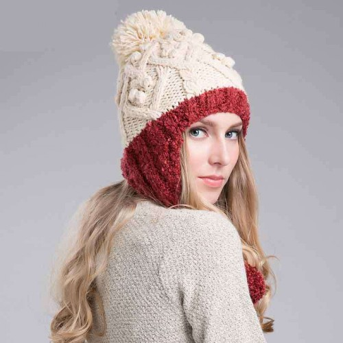 Ms. warm autumn and winter fashion wool hat knitted hat now fast and simple discount sales