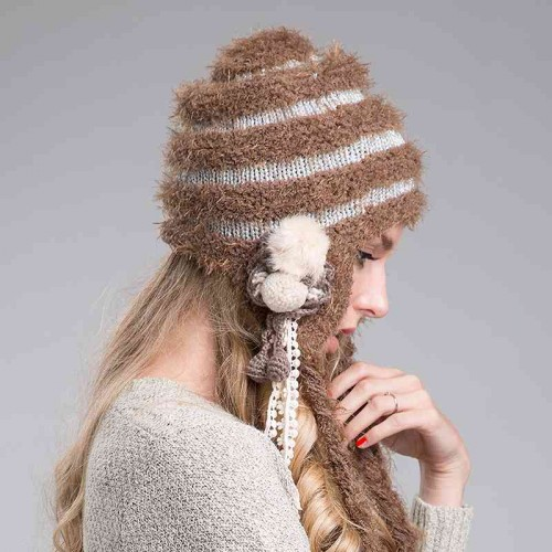Ms. autumn and winter fashion hats simple knit hat wool hat warm minimalist Ms.