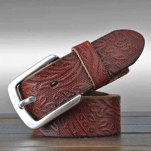Italy's top men's leather belt first layer of leather material retro leather belt Men's Belts
