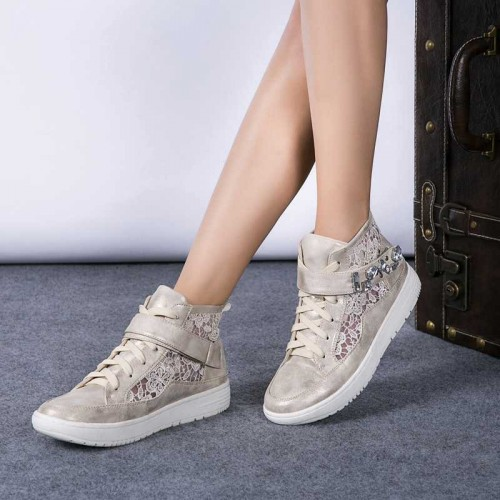 Spring Classic European market and the US market new models round high-top lace lady fashion sports shoes