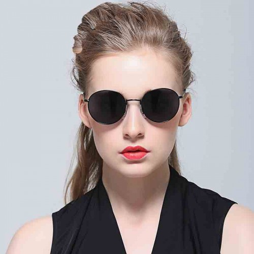 New retro round sunglasses sunglasses 3447 color film polarized sunglasses sunglasses discount