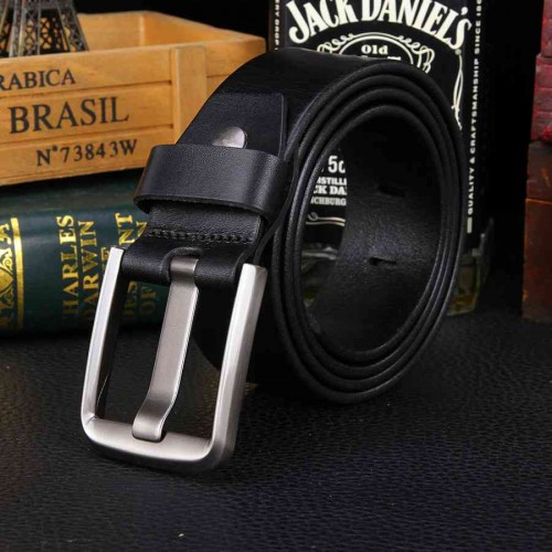 Hot sell men's dermal layer leading Italian top material leather men belt popular belt