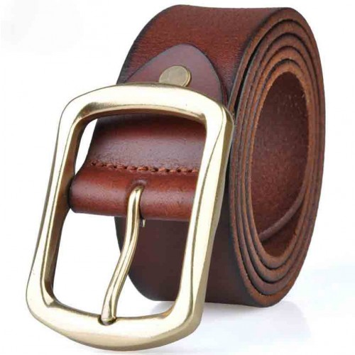 Popular men's belt leather belt with the first layer of pure leather belt section