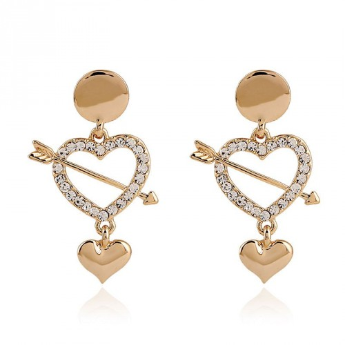 Hot sale earring stone mandrel alloy diamond earrings gold earrings earrings promotional discount jewelry