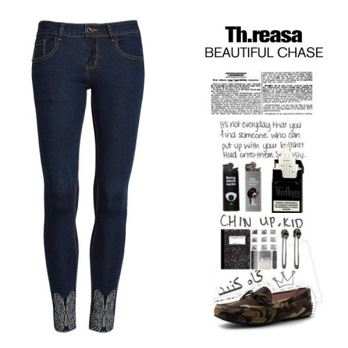 New fall and winter color pencil pants elastic Slim trousers embroidered with wool edge jeans pantyhose