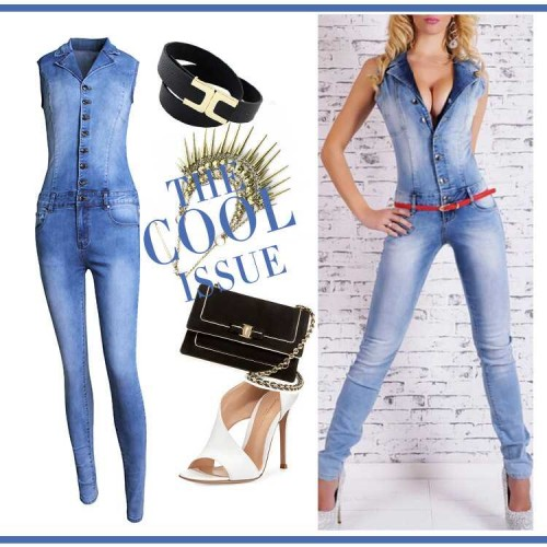 Europe station new models V-shaped collar piece pants jumpsuit sexy ladies jeans autumn fast delivery