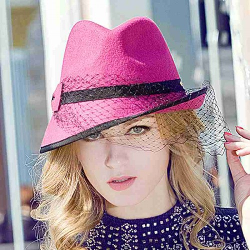 The new autumn and winter style hat lady Europe and the United States market cap wool material yarn bow hat